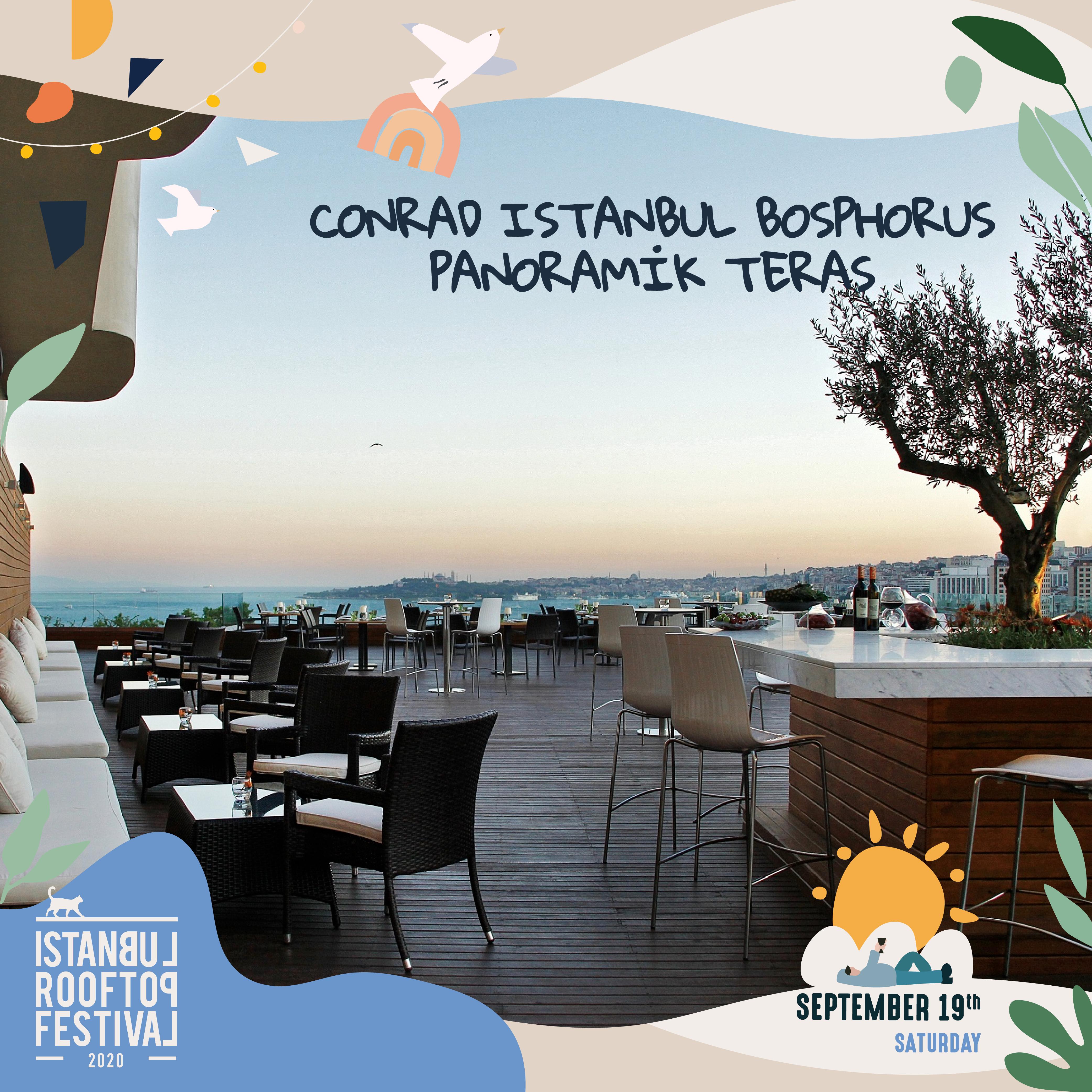 Conrad Bosphorus Istanbul Panoramik Teras